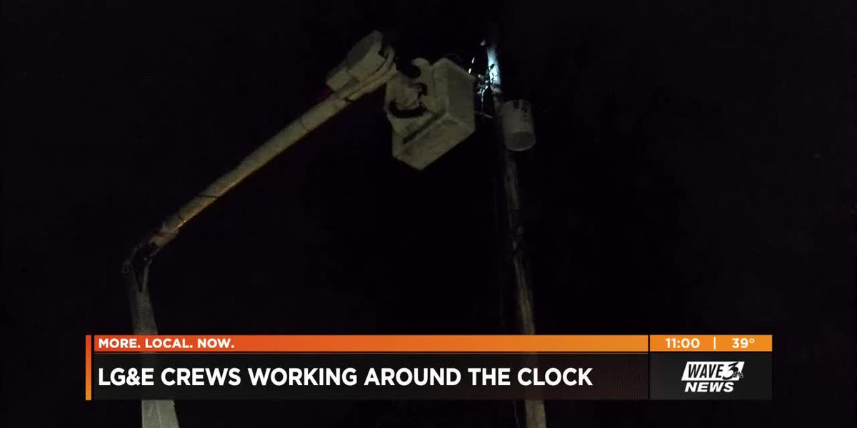 LG&E crews working to restore final thousands without power