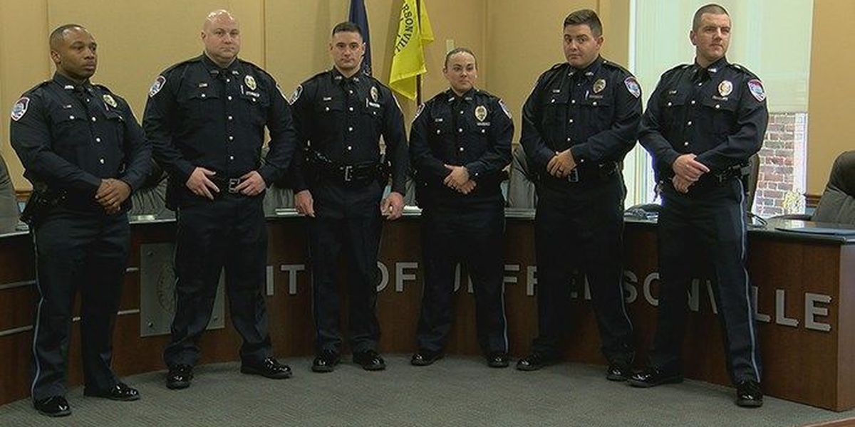 Jeff PD officers sworn in just 12 hours after trooper shot