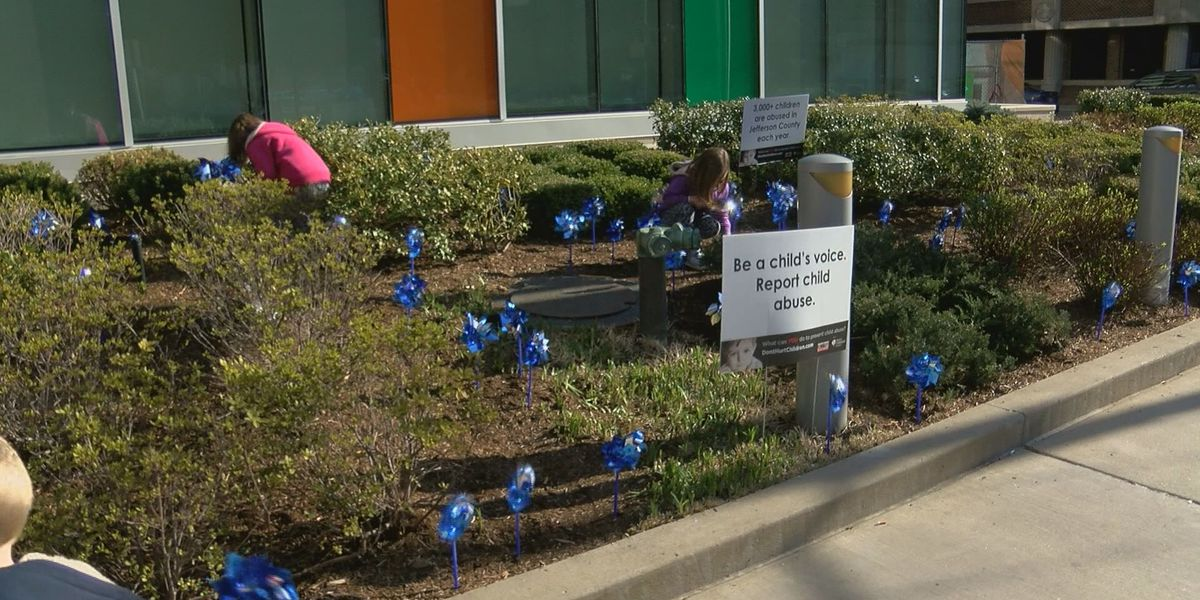 Pinwheel gardens symbolize child abuse prevention