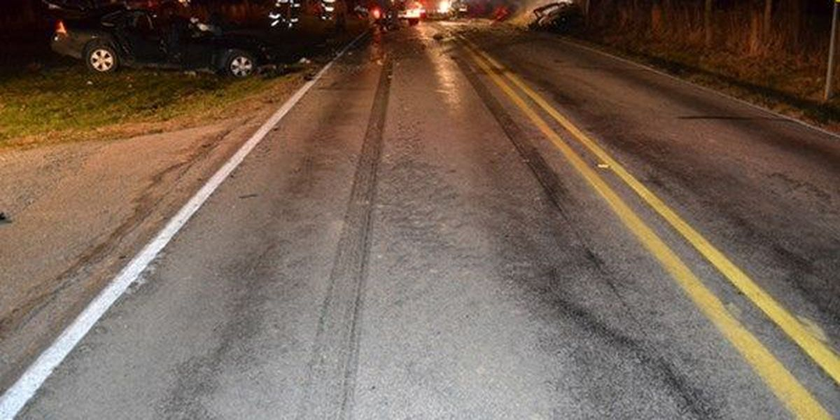 2 killed, 3 hurt in fiery head-on crash in southern Indiana