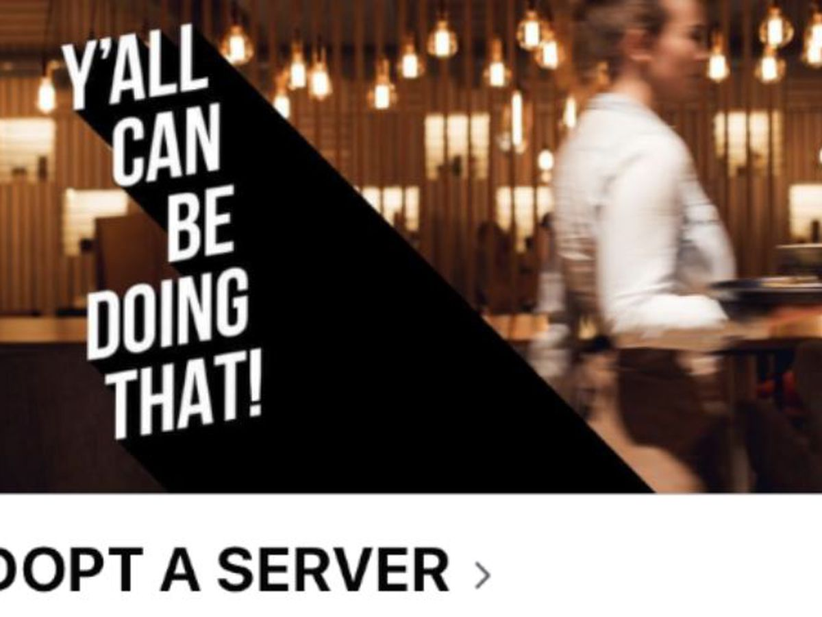 Facebook page 'Adopt A Server' created to help service industry workers