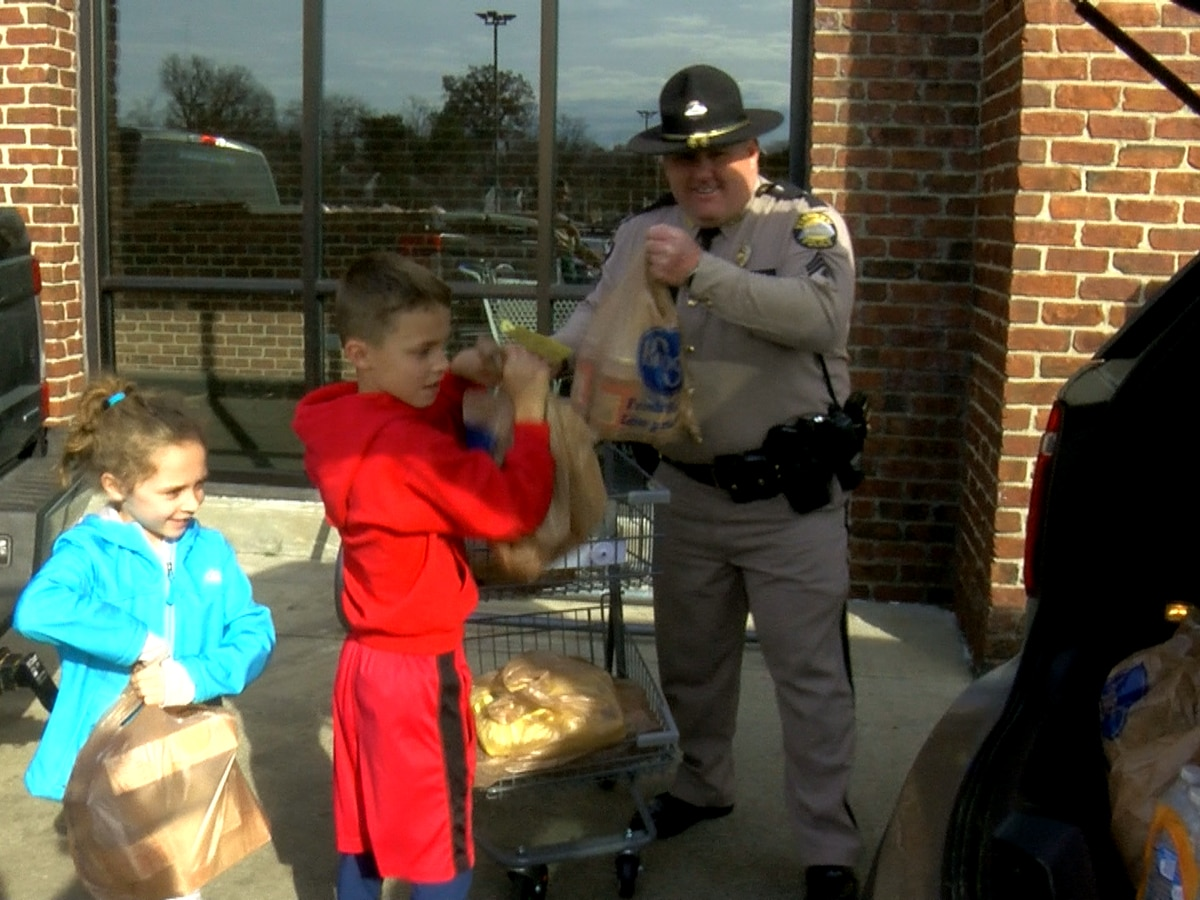 KSP holds Cram the Cruiser food drive for families in need this holiday