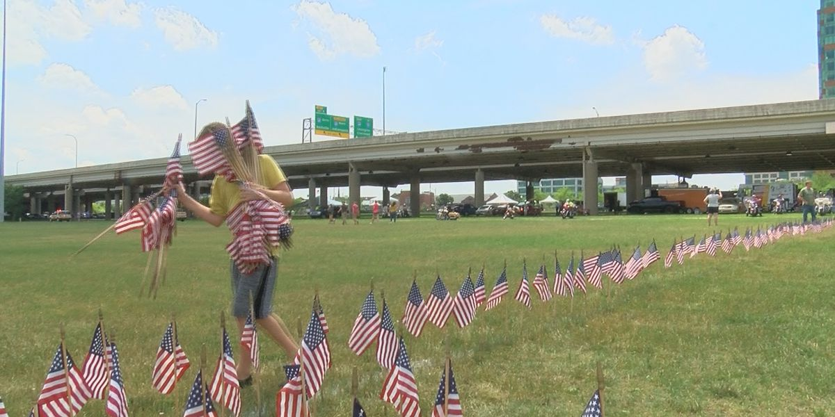 15,000 flags planted at Waterfront Park to honor fallen heroes