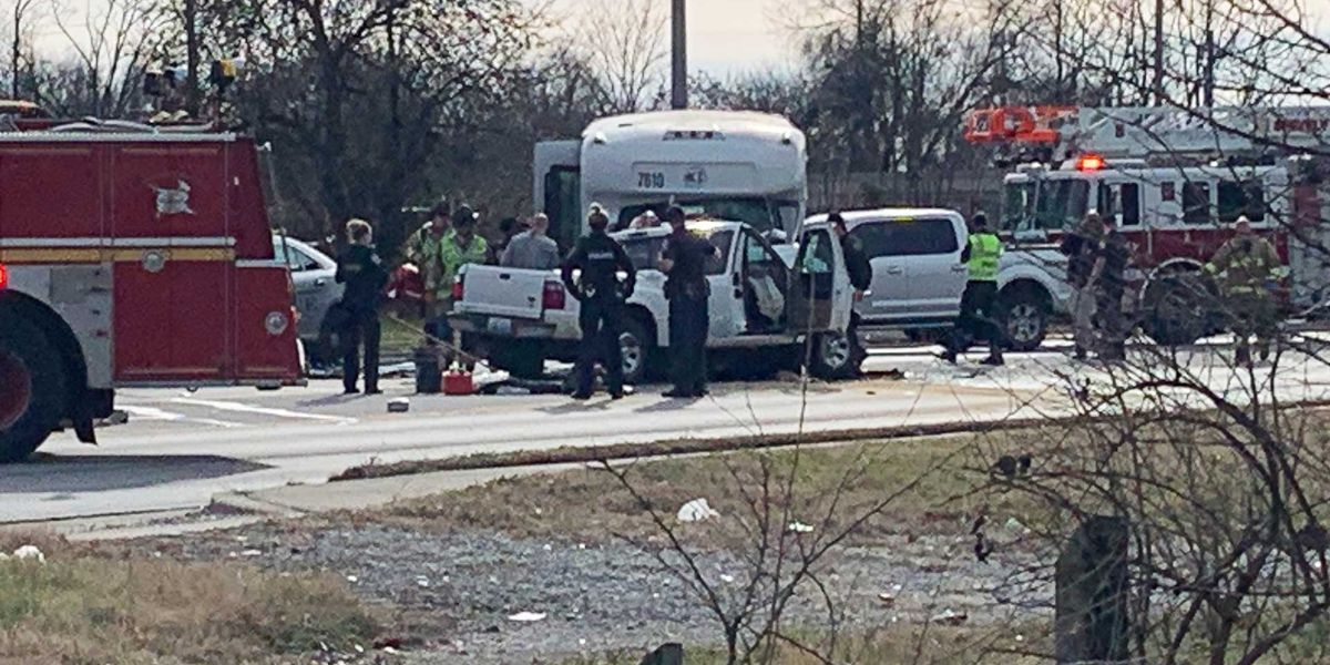 4 hurt in crash involving pickup, TARC 3 bus
