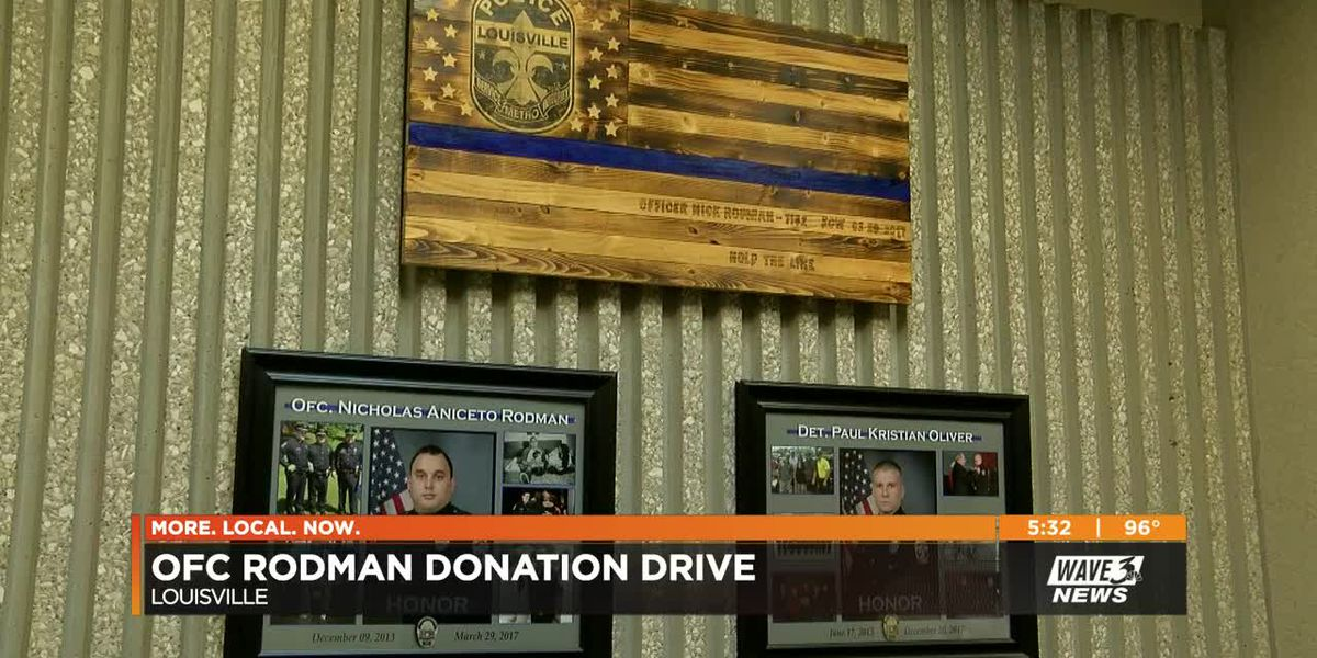 Donation drive aimed at keeping LMPD Officer Nick Rodman's legacy alive