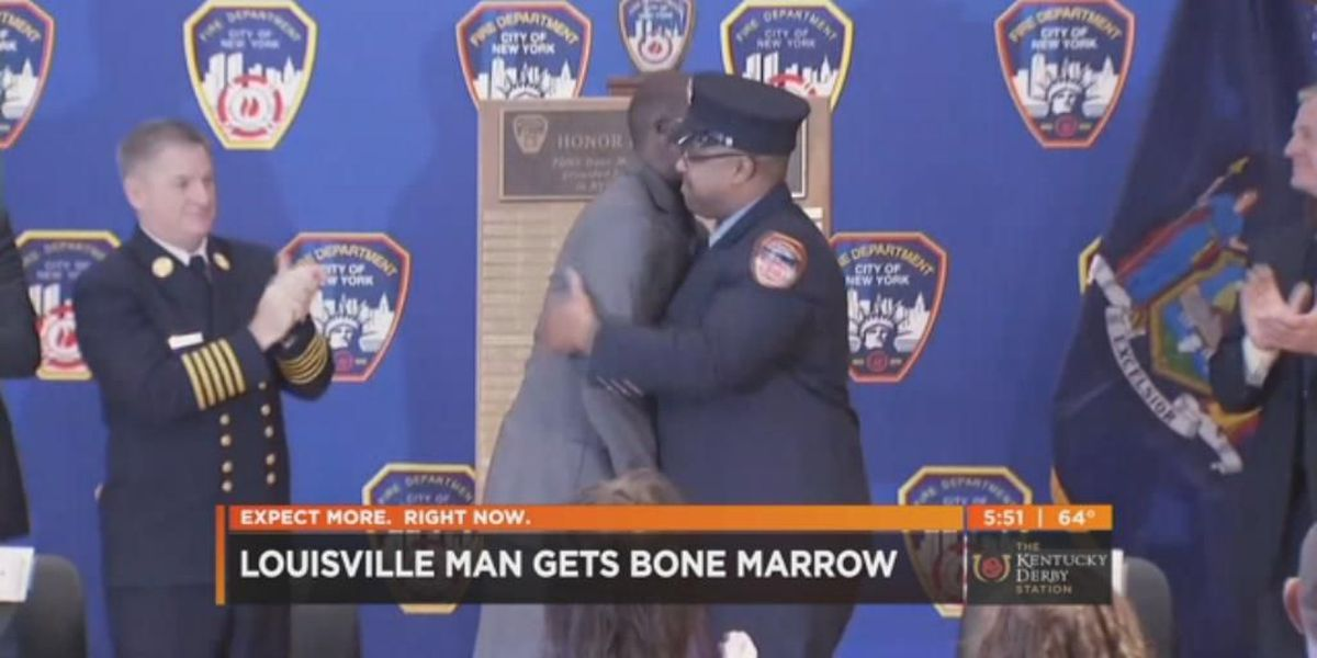 Louisville man meets firefighter who saved his life