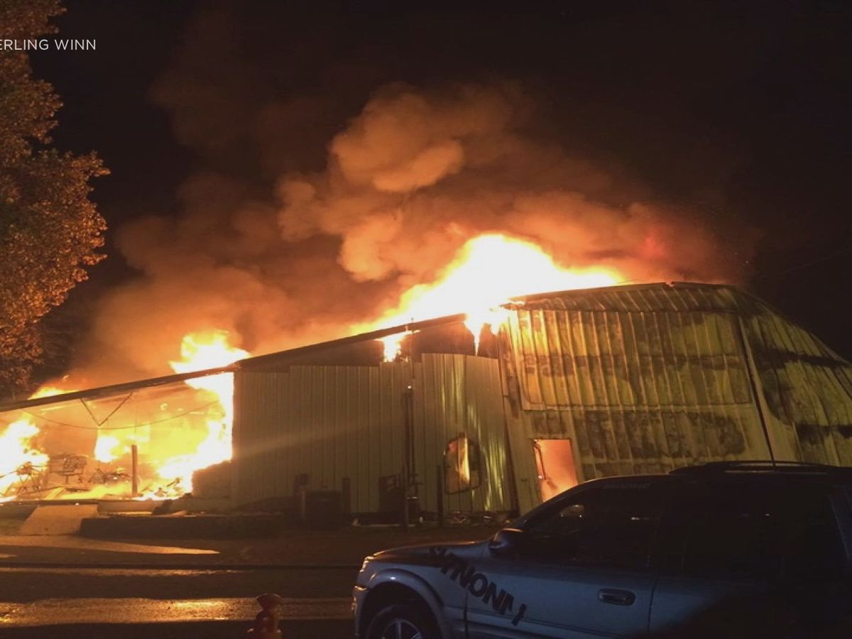 Owner of burned business says video appears to show lightning strike