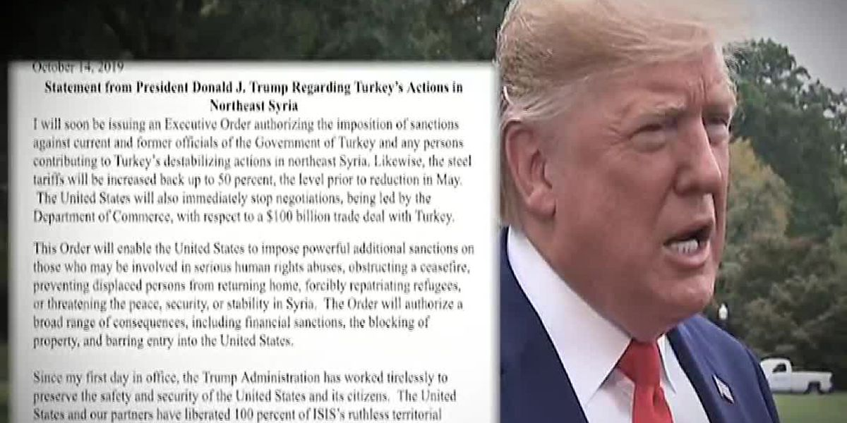 Pres. Trump sanctions Turkey over bloodshed in Syria