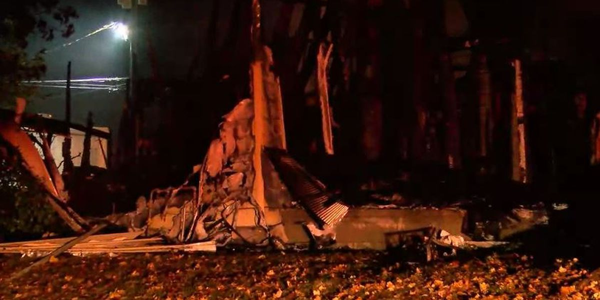 Home destroyed in Sellersburg explosion