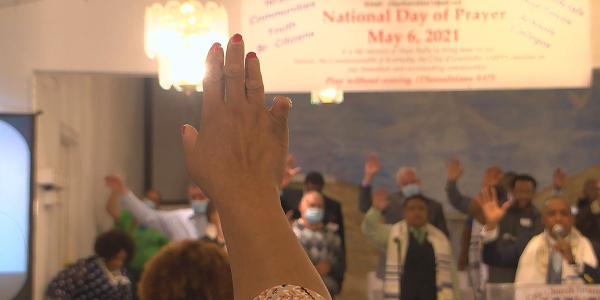 Louisville church prays for first responders, election officials on National Day of Prayer