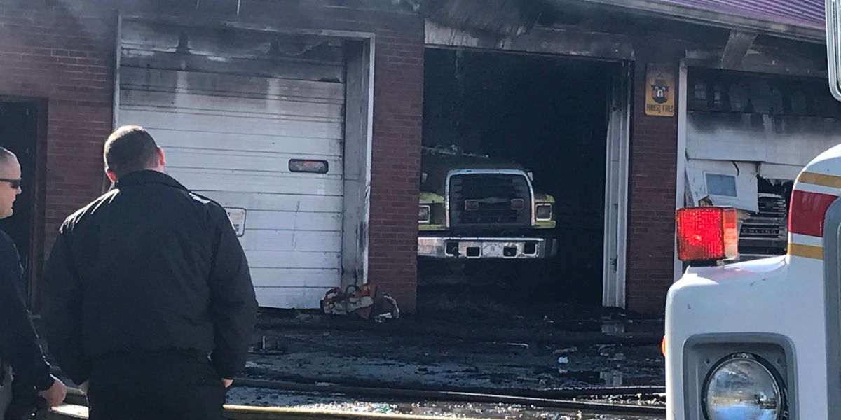 Southern Indiana fire house, equipment destroyed in fire