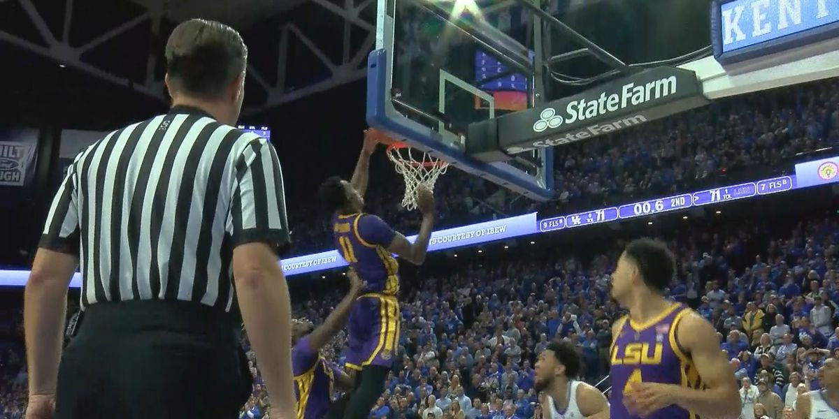 Late tip in gives #19 LSU 73-71 win over #5 UK