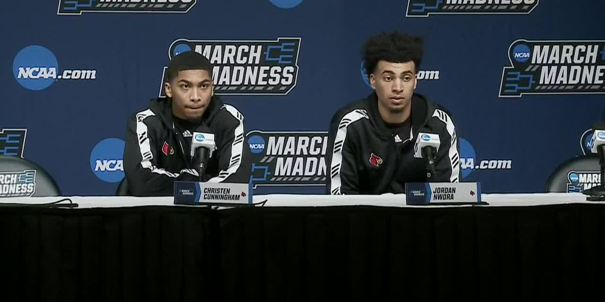 UofL players at pre-Minnesota news conference