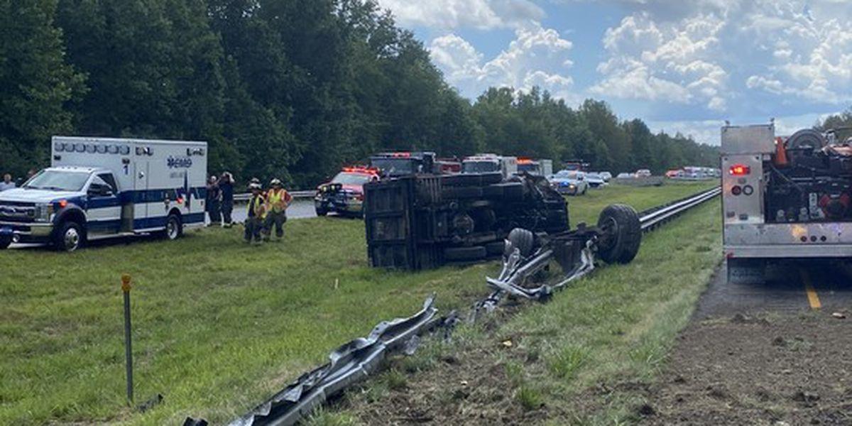 Man injured in dump truck crash on I-65