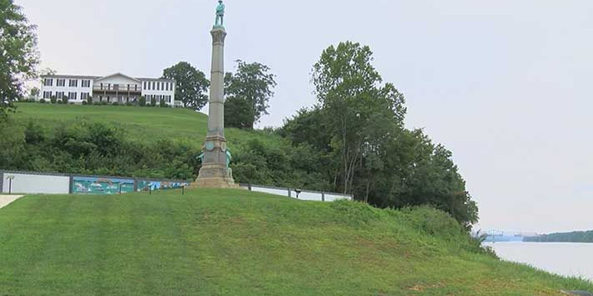 As Louisville looks for new home for 2 controversial monuments, one town sees spike in tourism