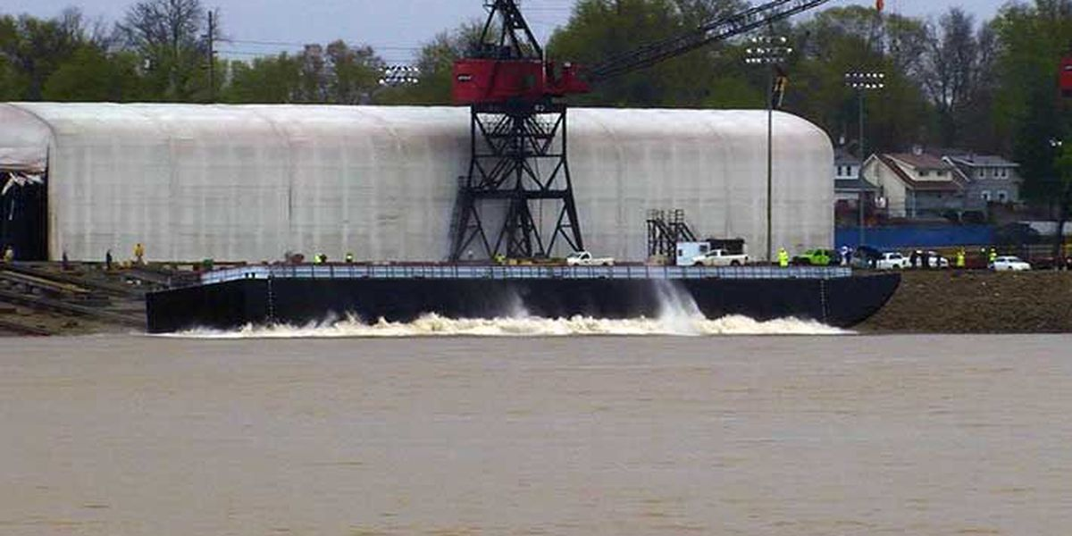 End of an era: Final barge launches from Jeffboat