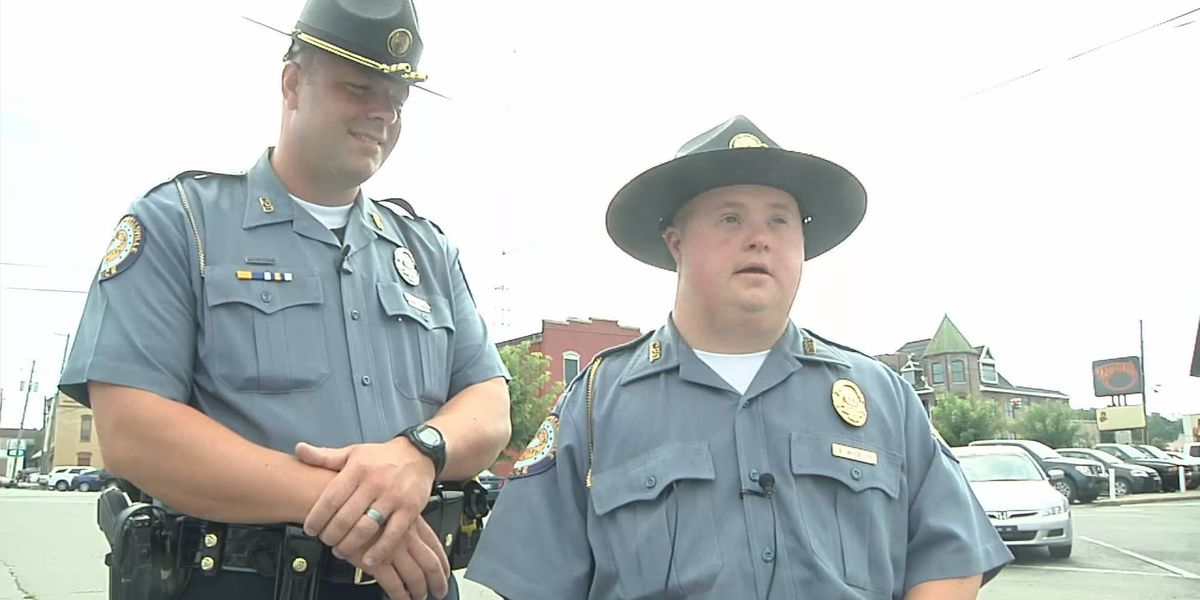 Man with down syndrome sworn in as officer for the day