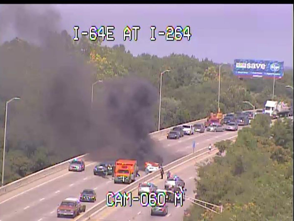 Driver killed in fiery crash on I-64 West near I-264