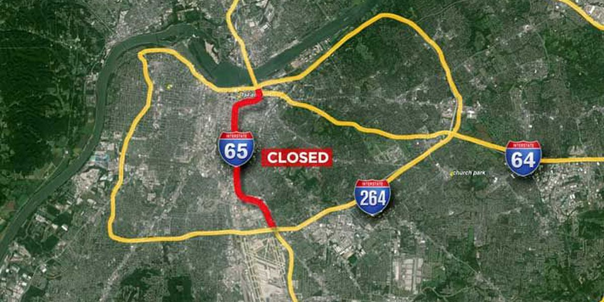 Roadway improvements to shutdown part of I-65 North