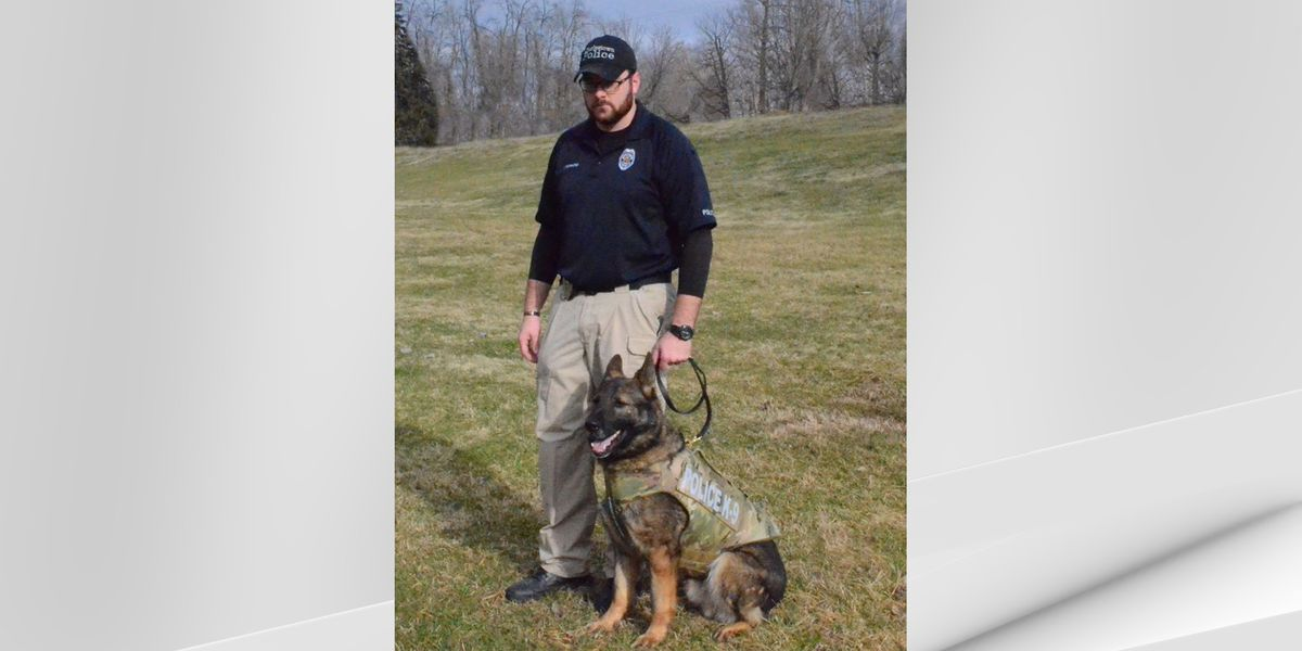 Charlestown K9 officer receives new protective vest from non-profit group