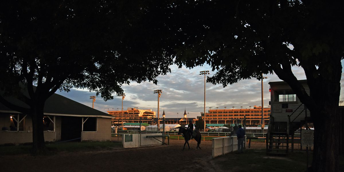 Omaha Beach superb in final Derby workout; Upset in Downs' feature race