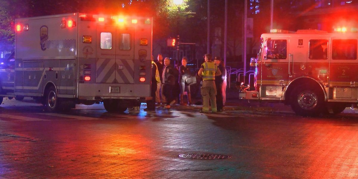 2 pedestrians hurt in hit-and-run in downtown Louisville