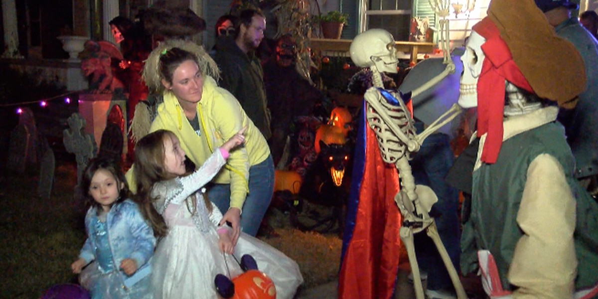 Creative neighbors find ways to keep the spooky spirit alive