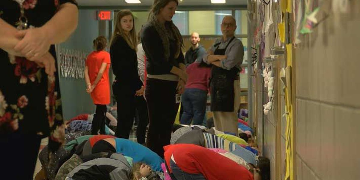 Louisville students practice tornado safety during statewide drill