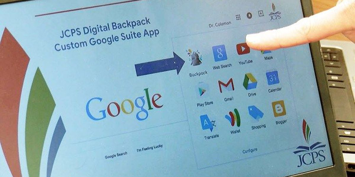 JCPS, Google team up to give students a 'digital backpack'