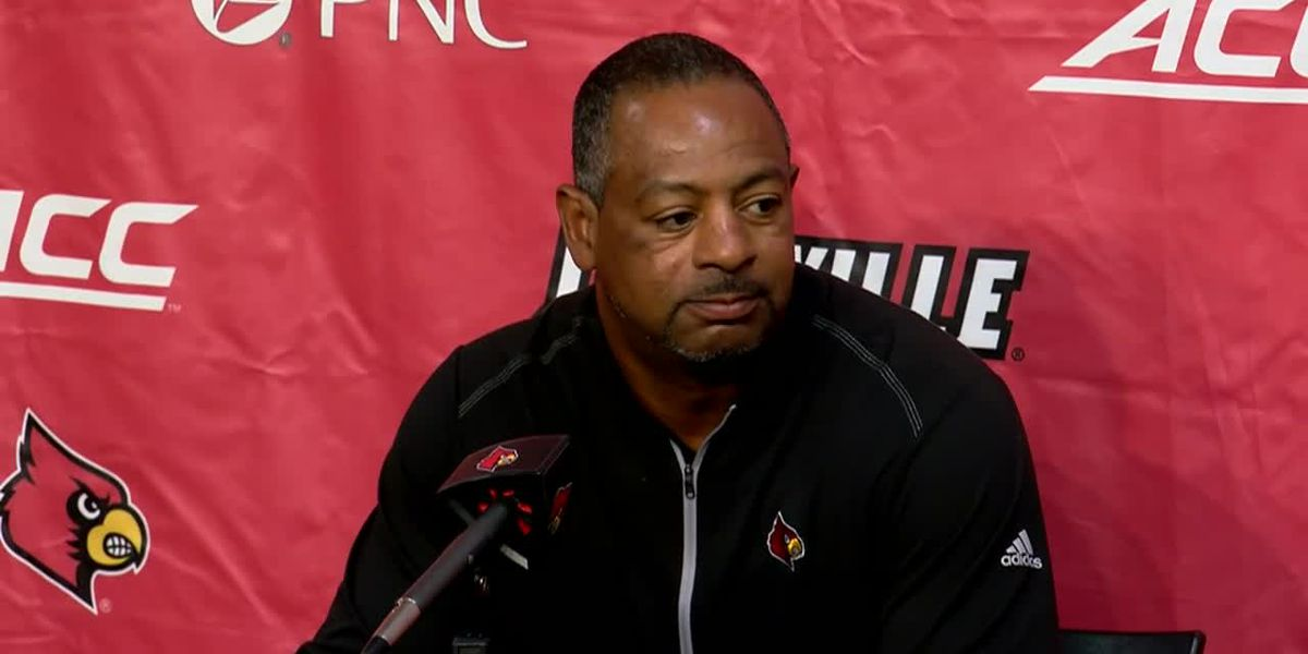 Lorenzo Ward holds first press conference as interim UofL football coach