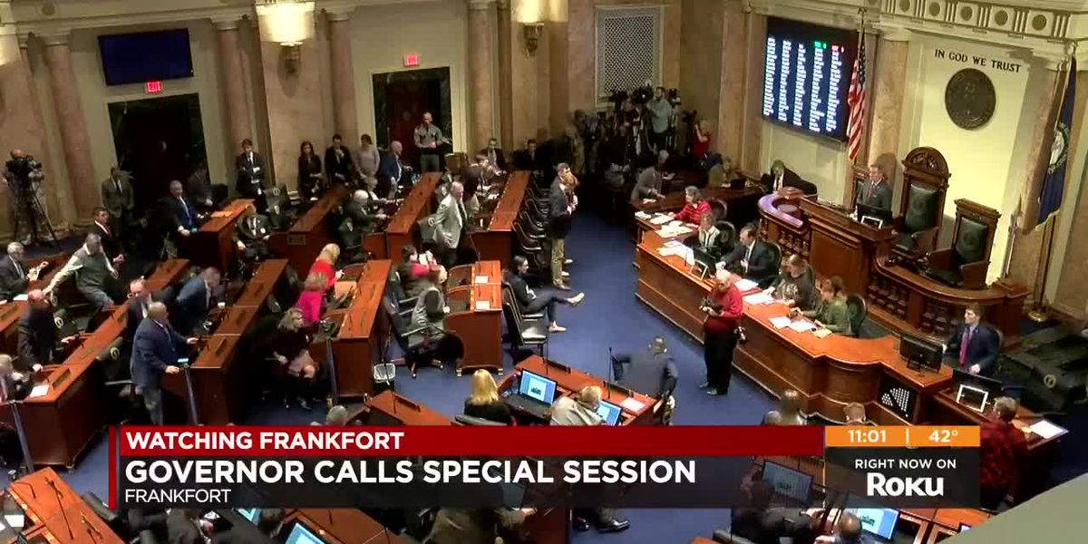 First night of special session full of closed door meetings, little action on floor