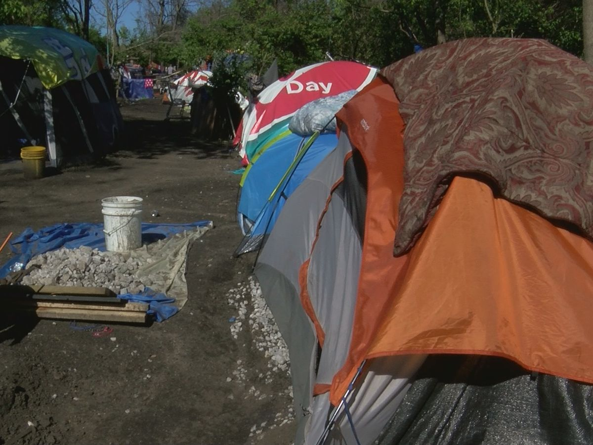 Louisville's largest homeless camp forced to leave CSX rail line property