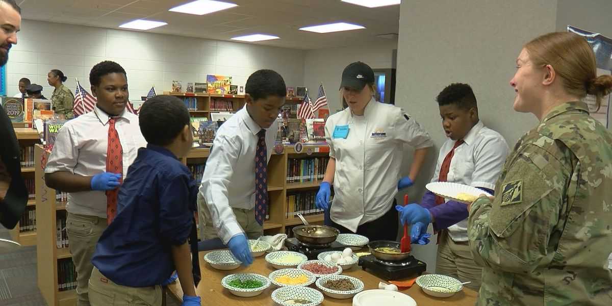 W.E.B. DuBois Academy students become chefs for vets