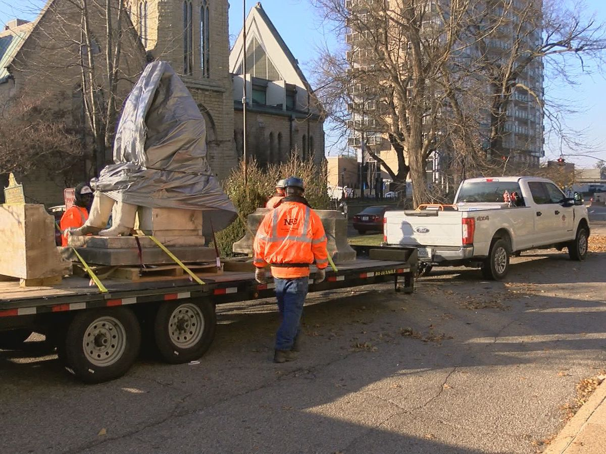 Standing in Louisville for more than a century, public statue now in storage