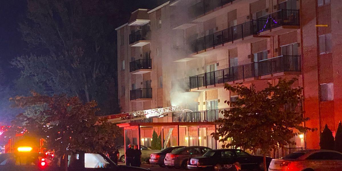 Dozens evacuated during fire at St. Matthews condominium