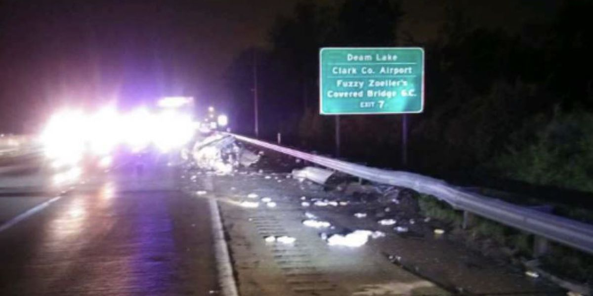 Victim of deadly crash on I-65 in Clark County identified