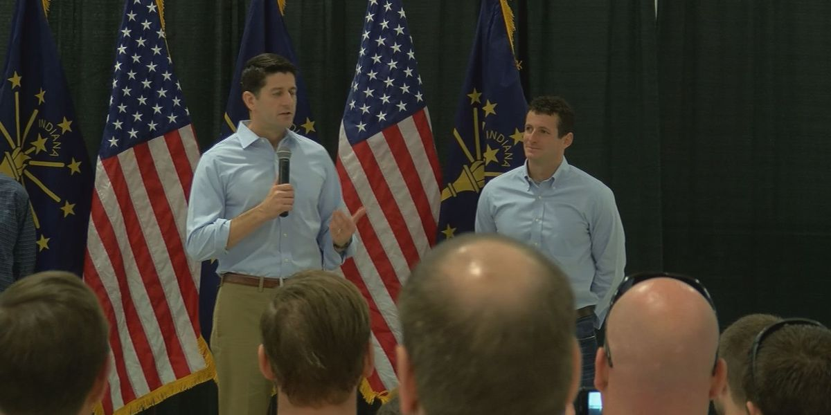 House Speaker Ryan stops in Southern Indiana to rally for Hollingsworth