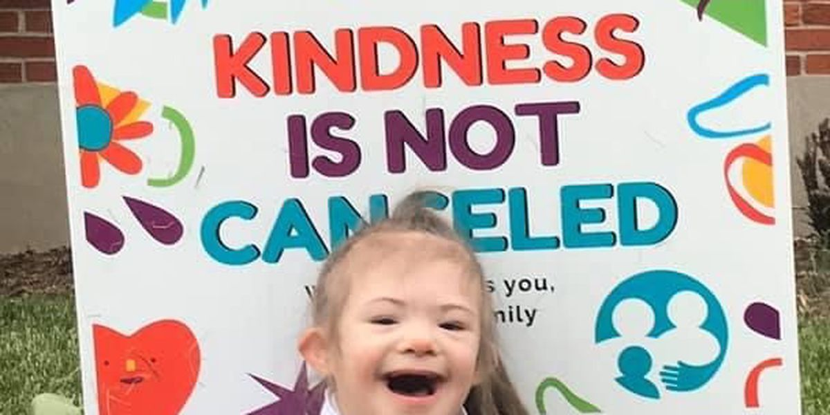 'Kindness is not canceled': Down Syndrome of Louisville spreads sweet message during pandemic