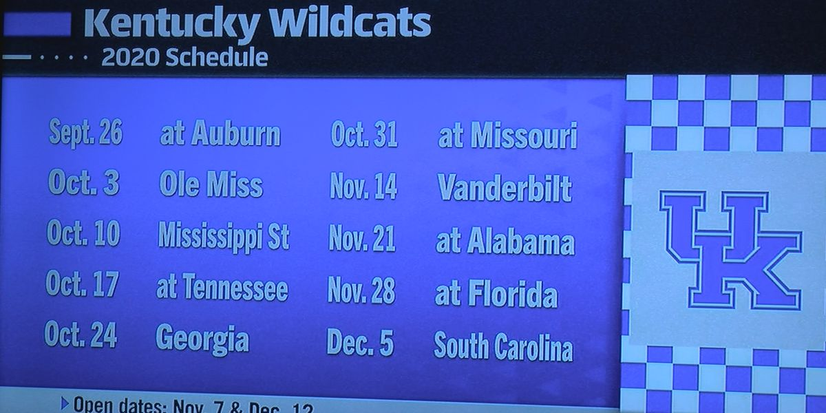 SEC releases UK football schedule for 2020