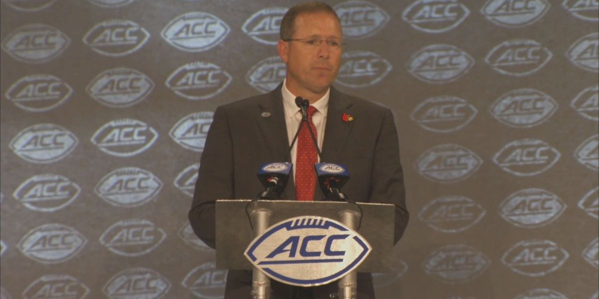 Satterfield and Cards at ACC Kickoff