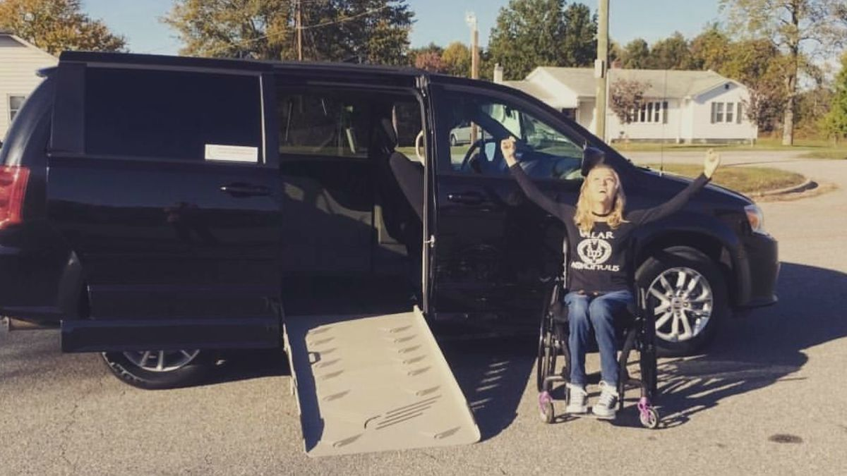 Quadriplegic college student's stolen wheelchair-accessible van has been found