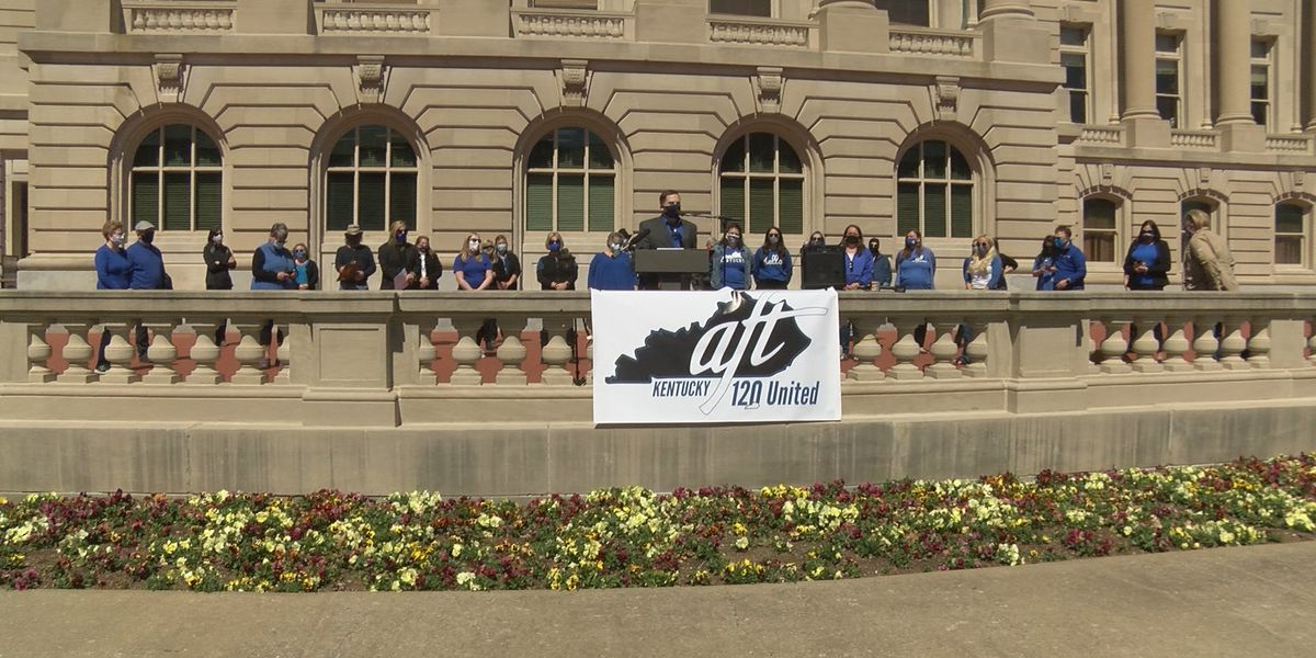 Education bills fuel demonstrations in final days of KY legislative session