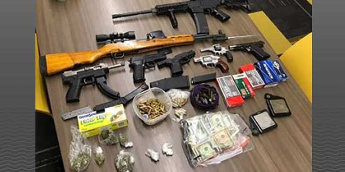 Drugs, guns and ammo recovered in narcotics raid, 8 arrested