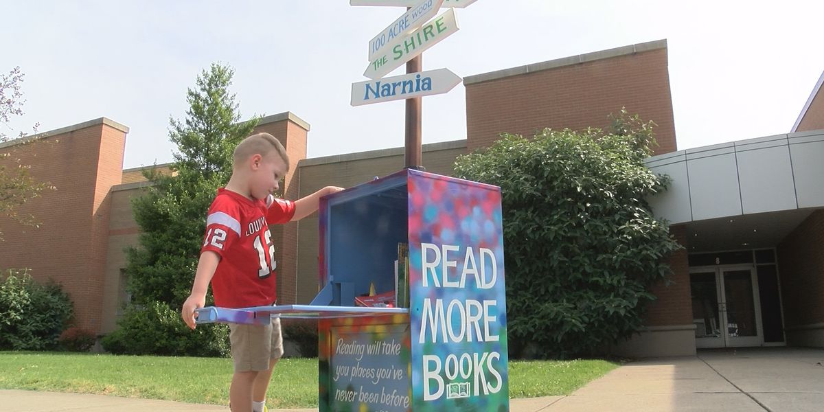 Clarksville Elementary School adds Little Free Library for students during summer