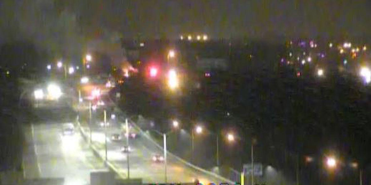 Vehicle fire shuts down lanes on I-264 near Bells Lane