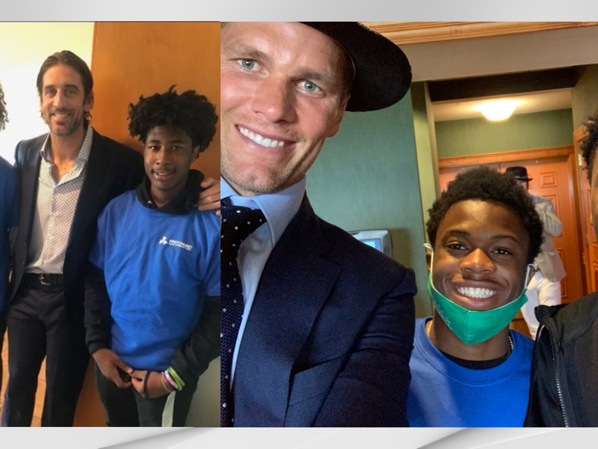 Fern Creek athletes score selfie with football legends at the Kentucky Derby