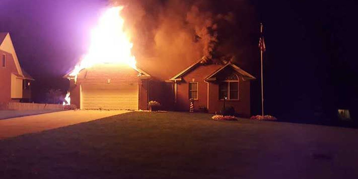 Fireworks started fire in southern Indiana home; firefighter injured