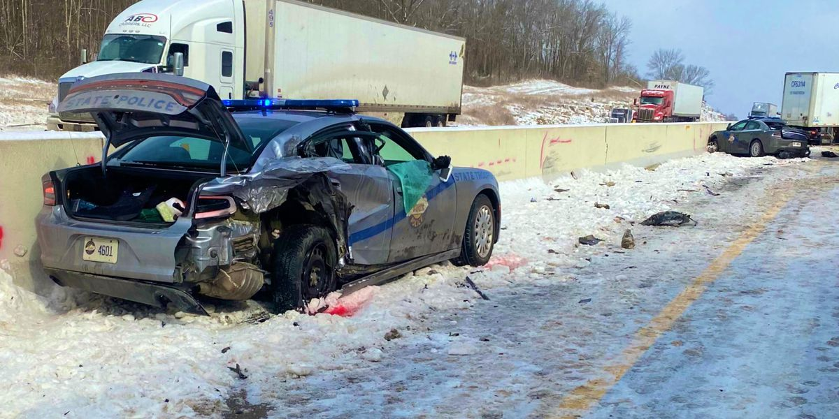 KSP troopers hurt working at interstate crash scene, driver dies in collision