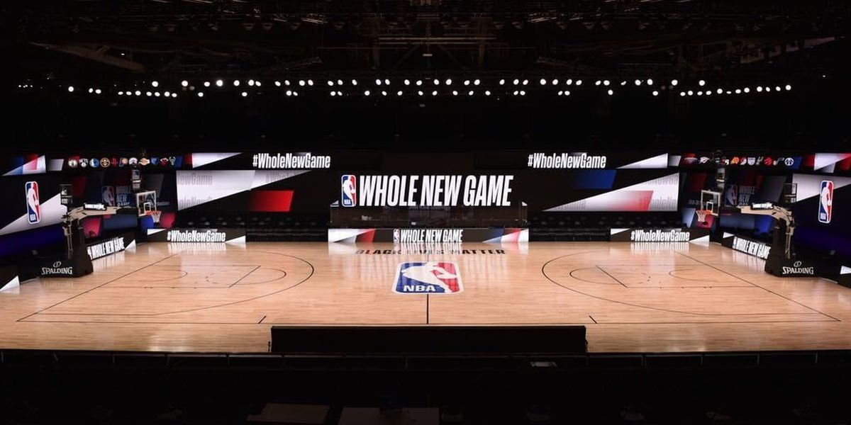 NBA debuts court painted with 'Black Lives Matter'