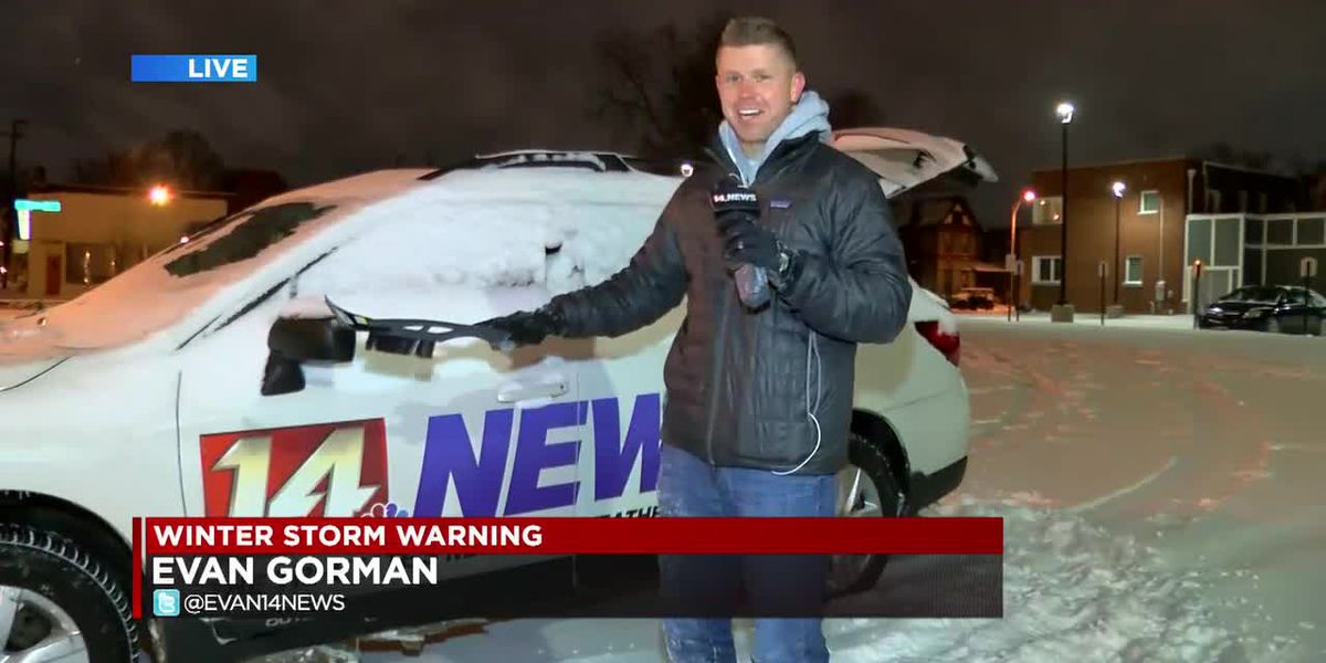 14 News reporters have some winter weather struggles